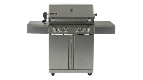 Smart 4 Burner Trolley BBQ with Enclosed Hood