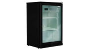 husky 118L single door back bar fridge black