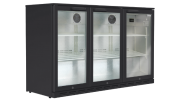 Husky 307L Triple Door Back Bar Fridge black