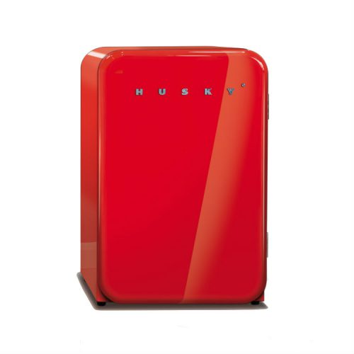 Husky retro fridge red