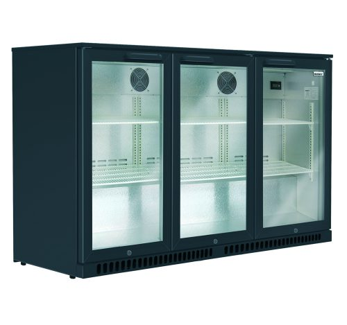 Husky Triple Door Back Var Fridge in Black