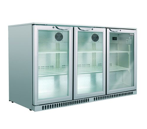Husky Triple Door Back Bar Fridge